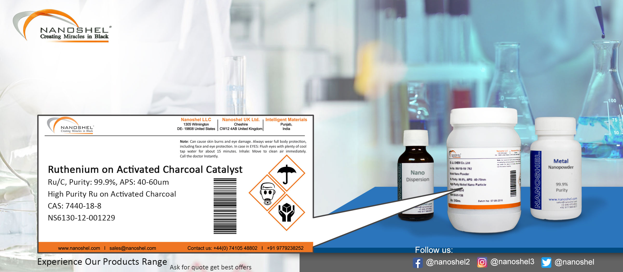 Ruthenium on Activated Charcoal Catalyst