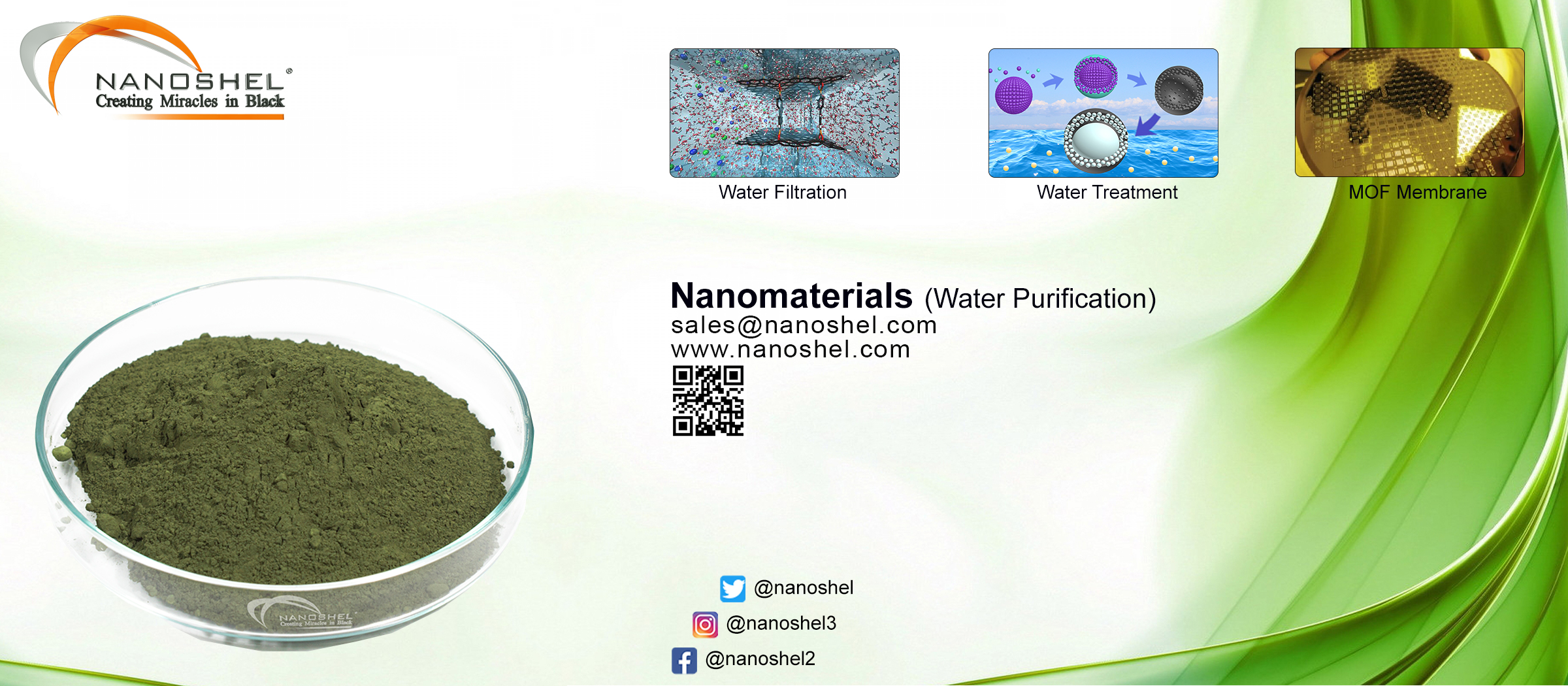 Nanomaterials for Water purification