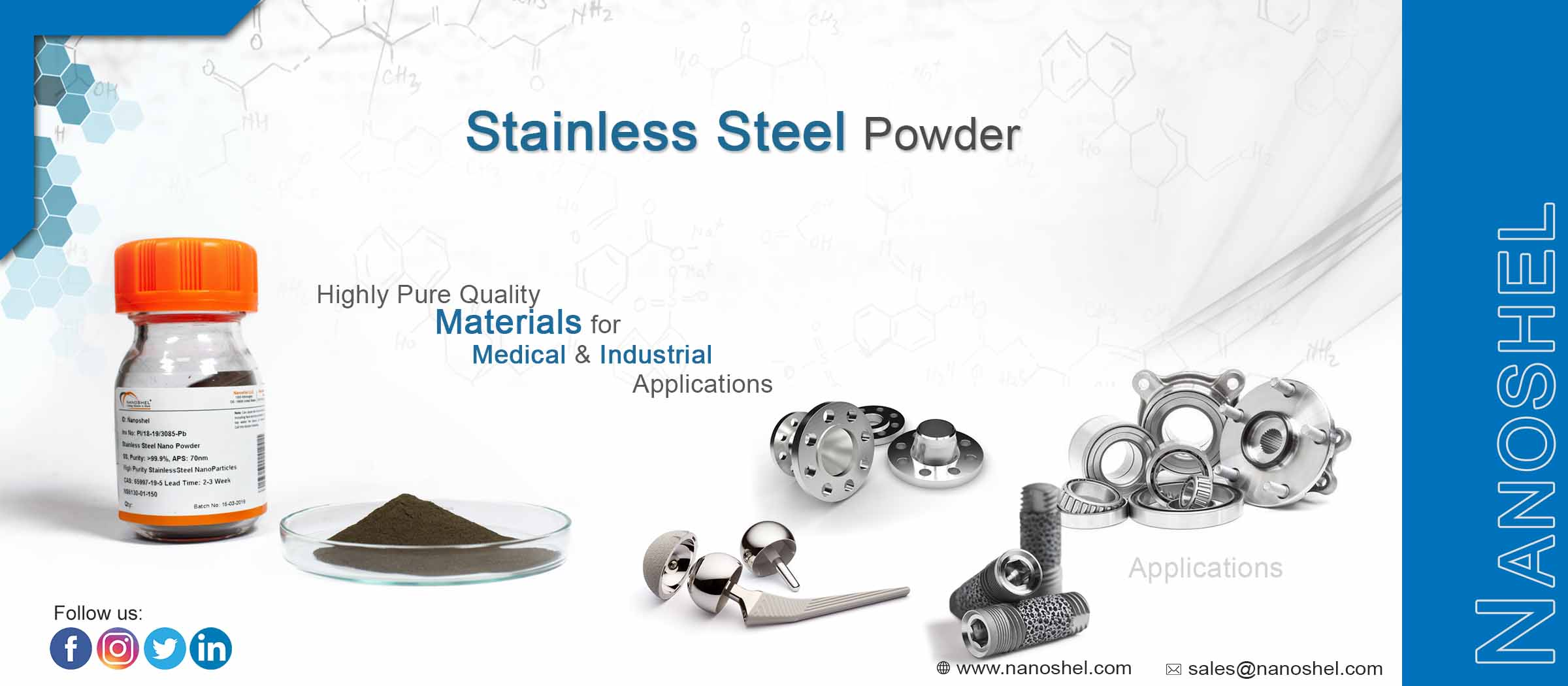 Non-Magnetic Stainless Steel Powder