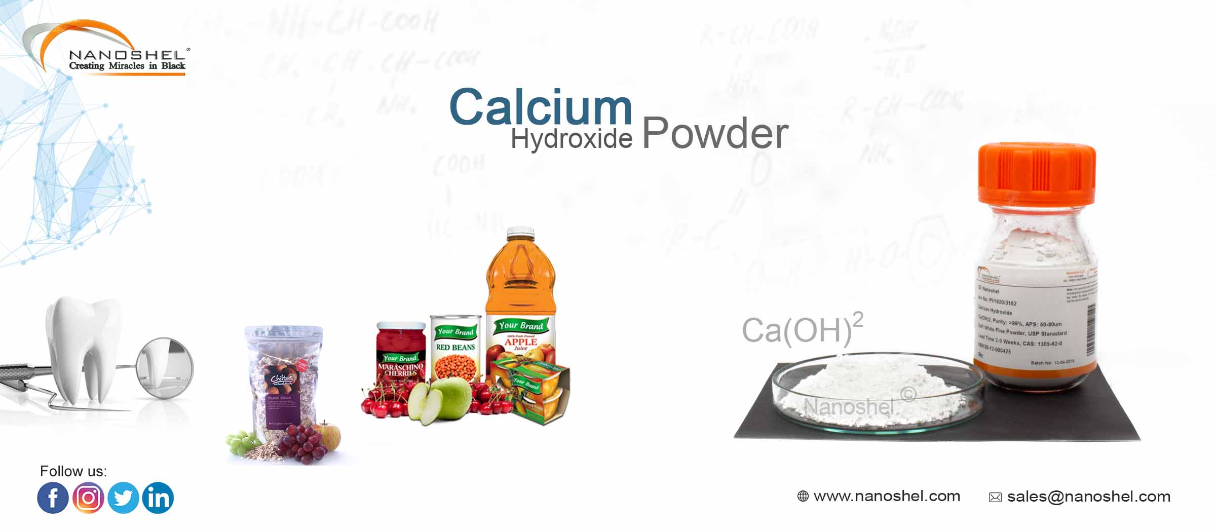Calcium Hydroxide Powder High Purity Less Price Fast Delivery
