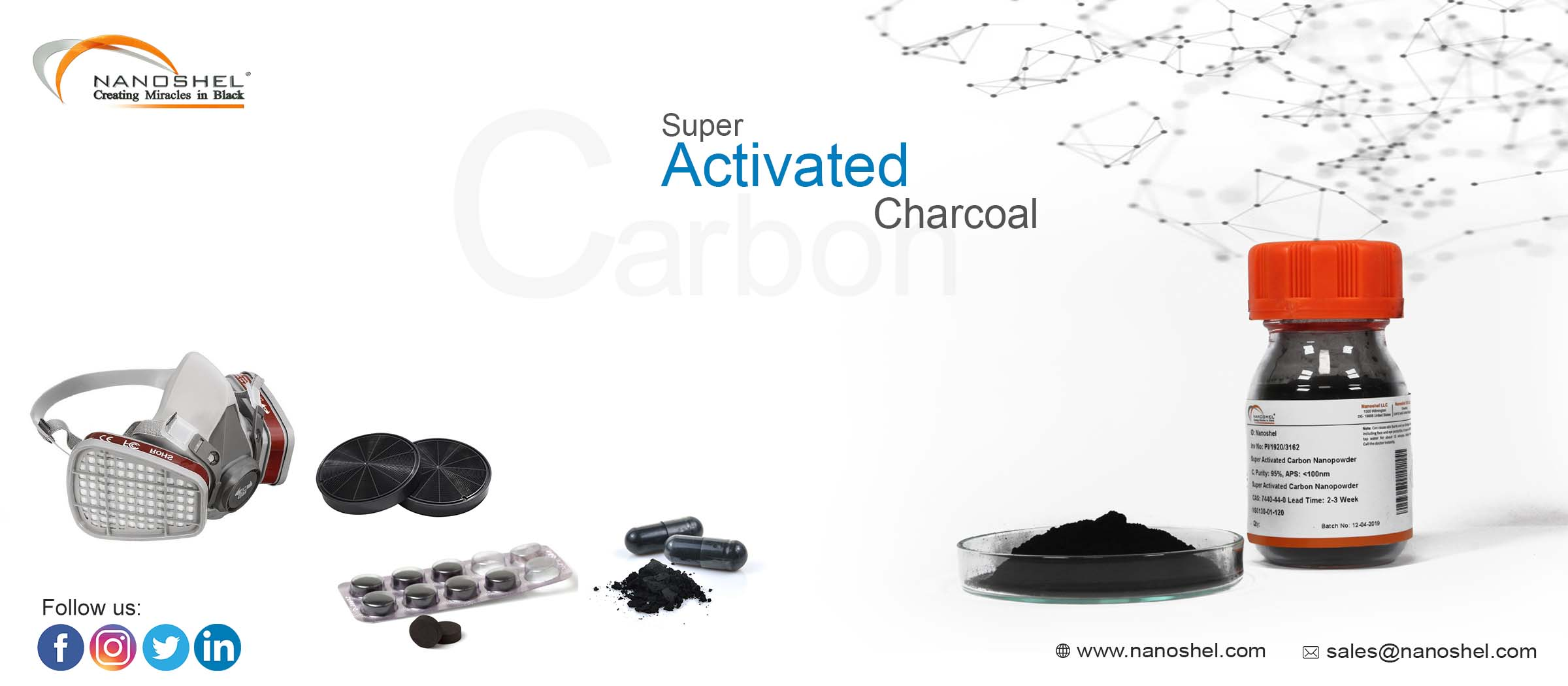 Super Activated Charcoal Powder
