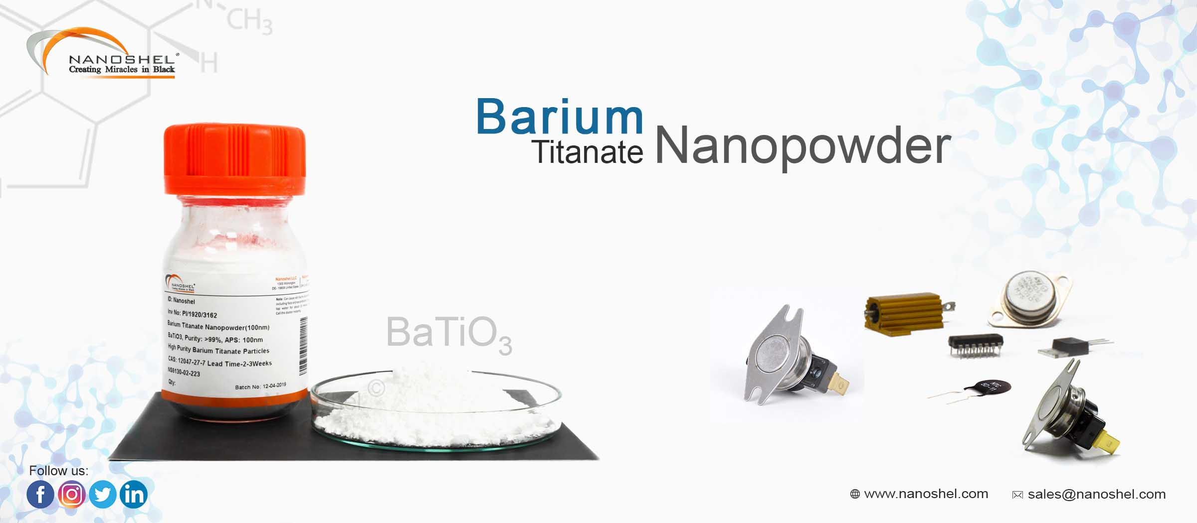 Nano Barium Titanate Powder