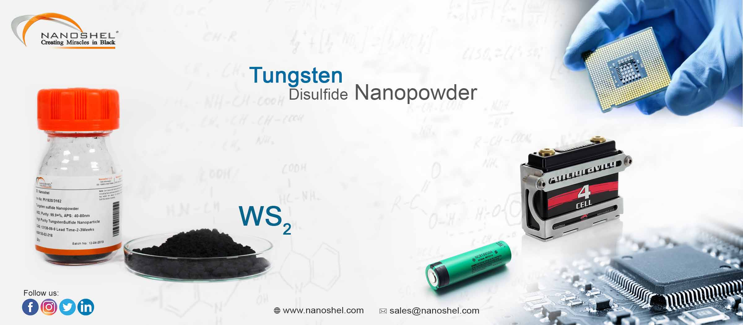 Nano Tungsten Disulfide Powder