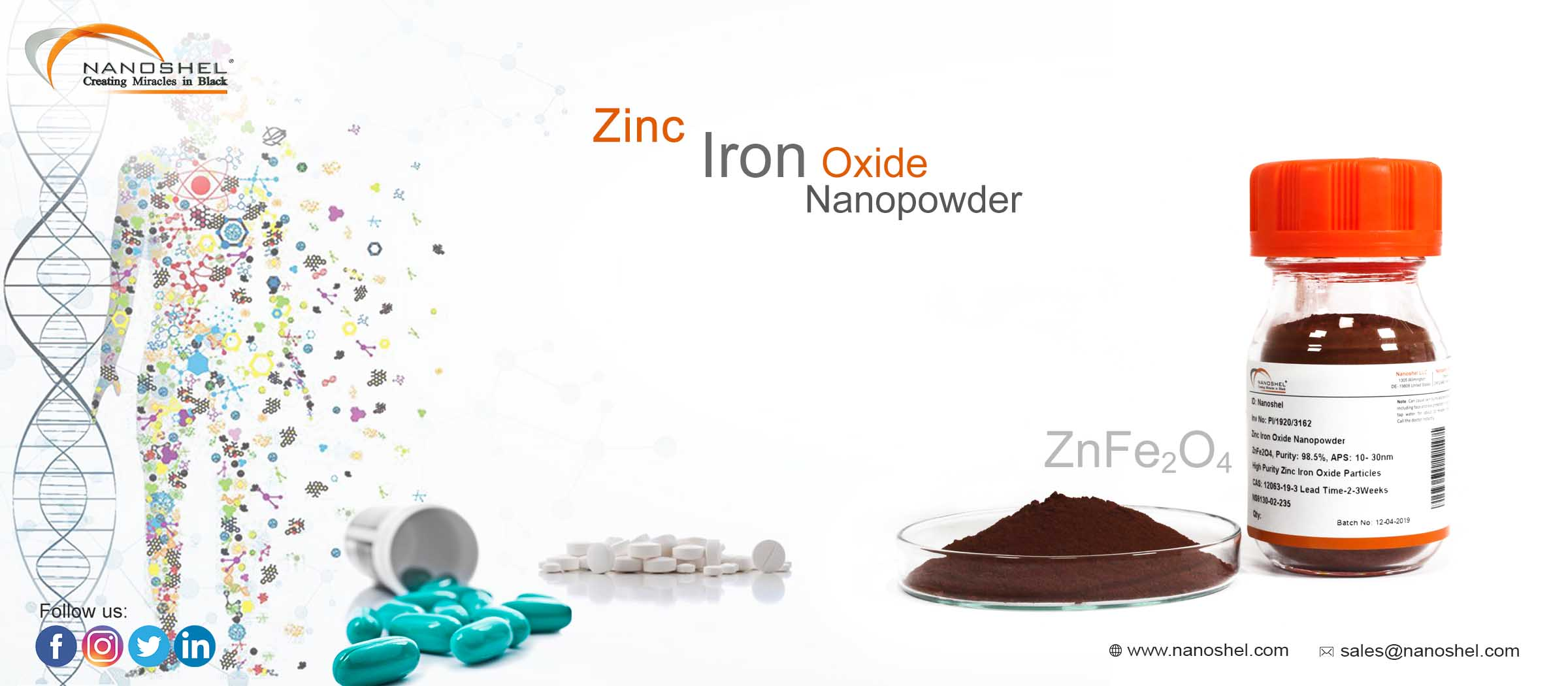 Zinc Iron Oxide Nanoparticles