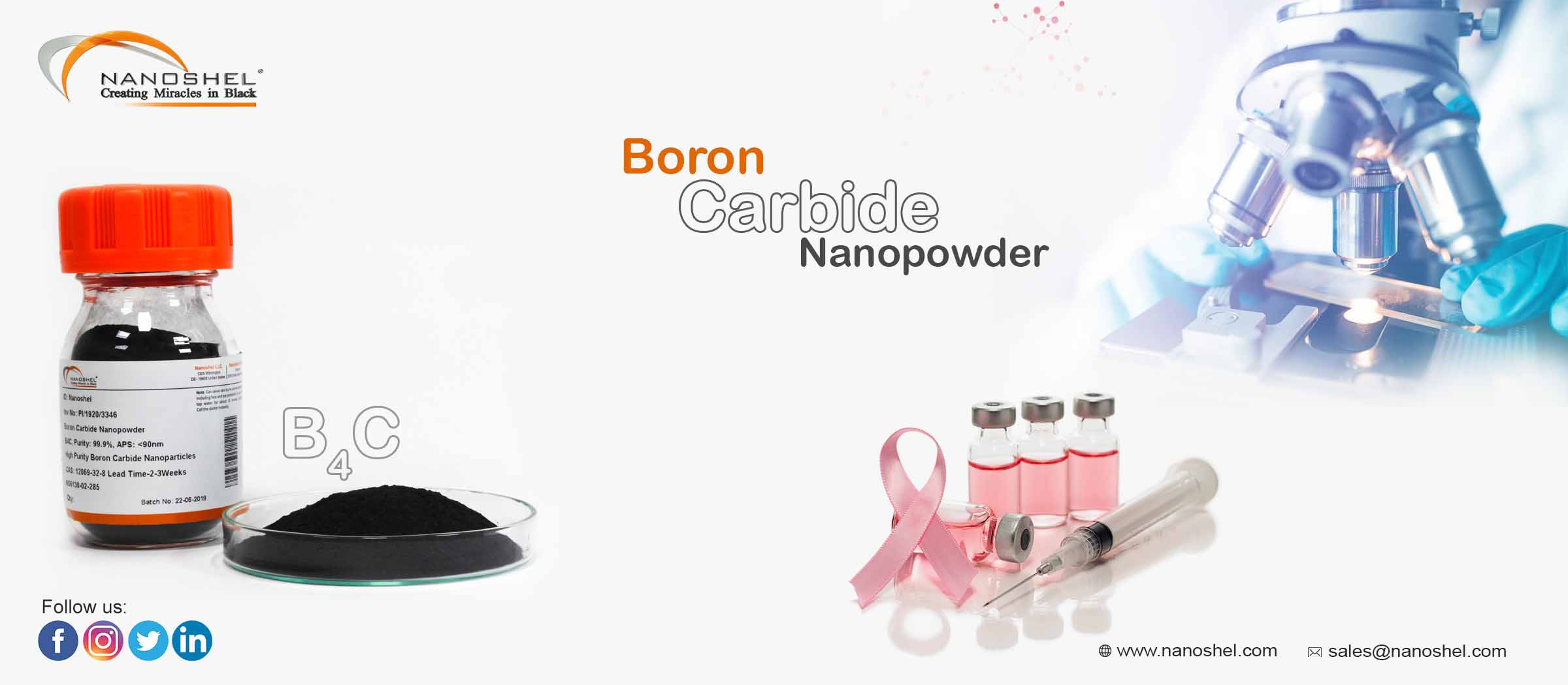 Boron Carbide Nanoparticles