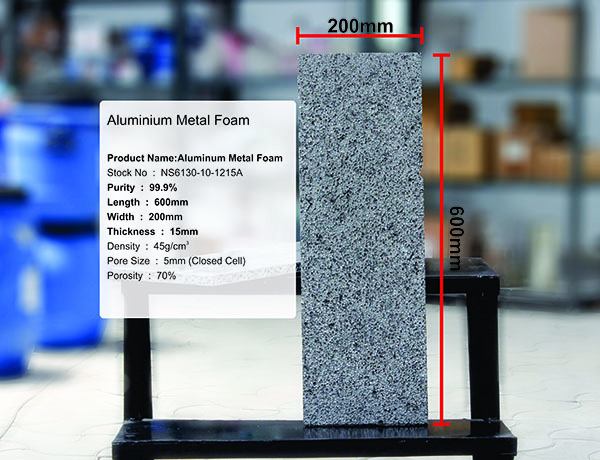 Aluminium Metal Foam Closed Cell