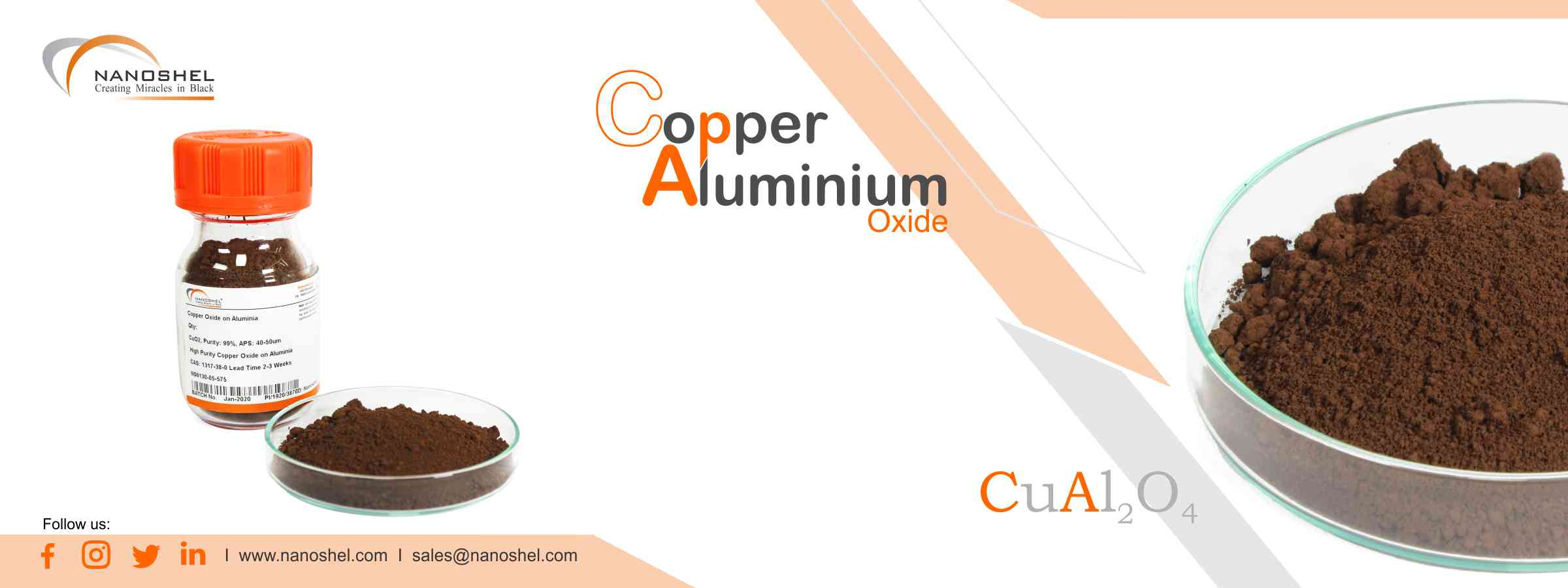 Copper Aluminum Oxide Powder