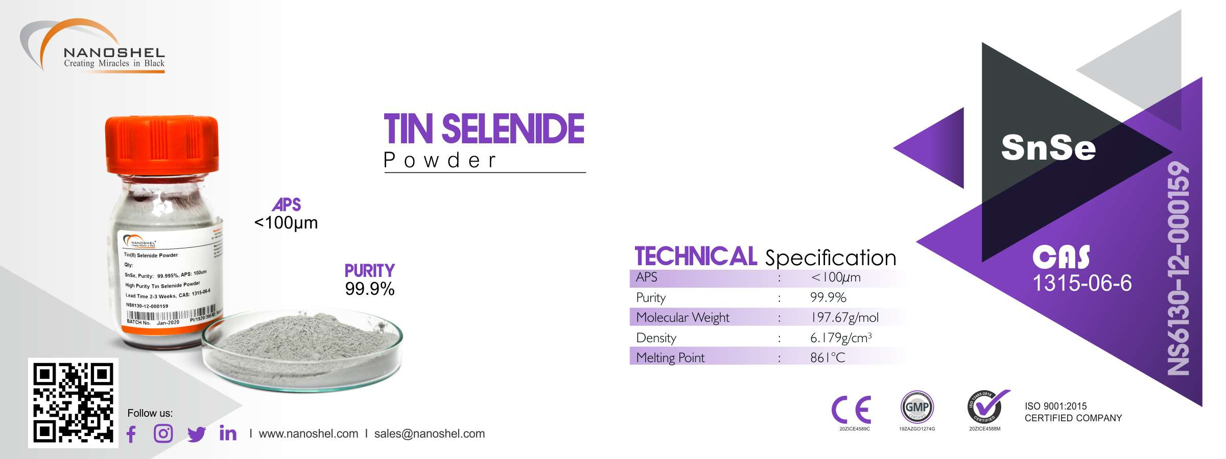 Tin Selenide Powder