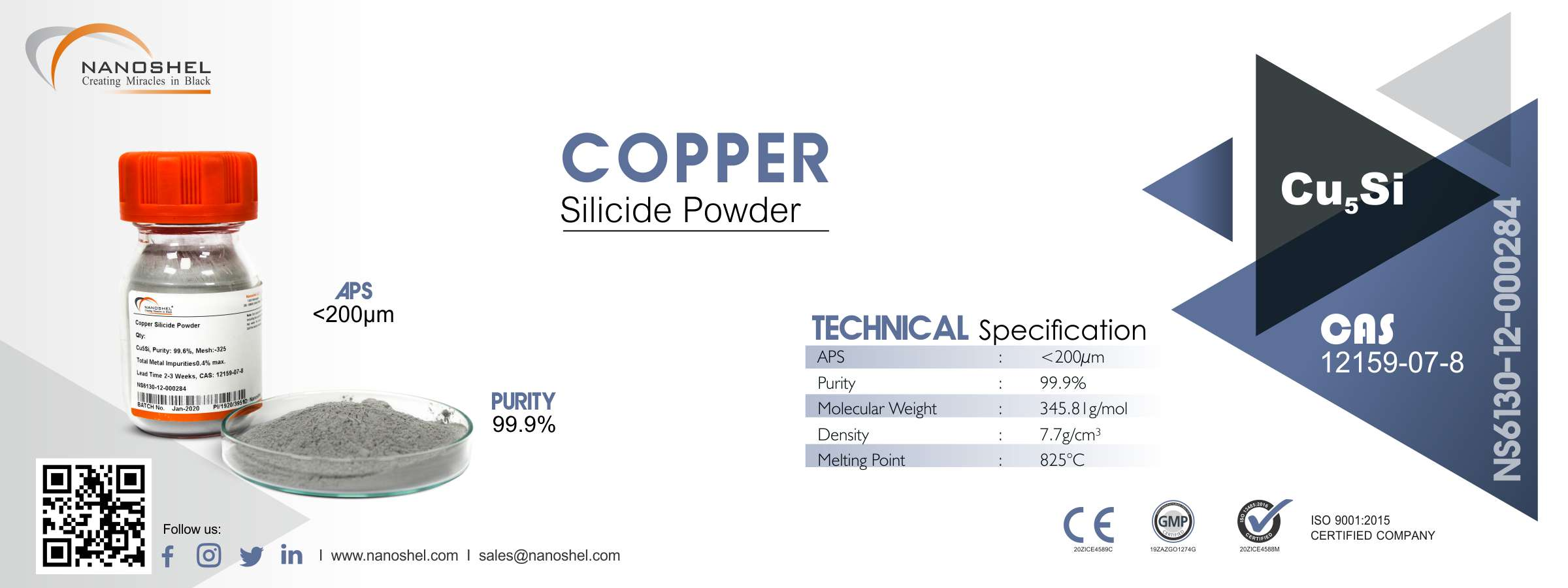 Copper Silicide Powder