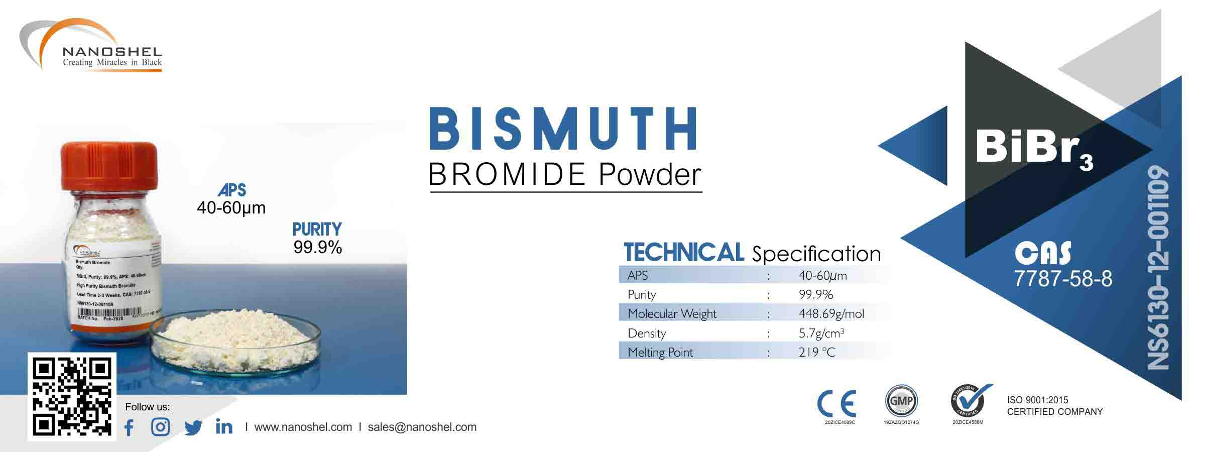 Bismuth Bromide Powder