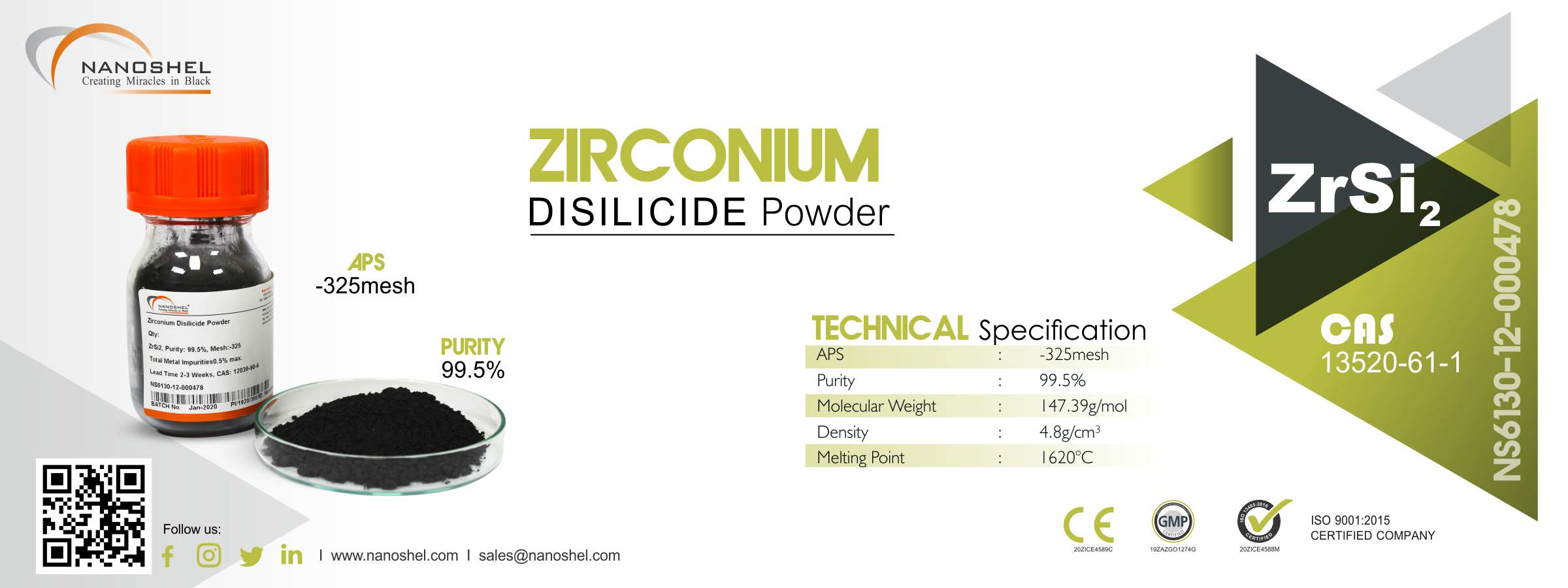 Zirconium Disilicide Powder