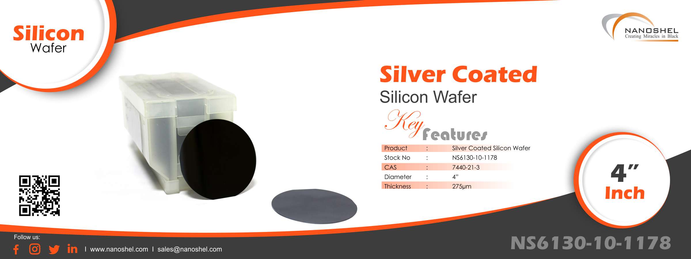 Silicon Wafer Silver Coated