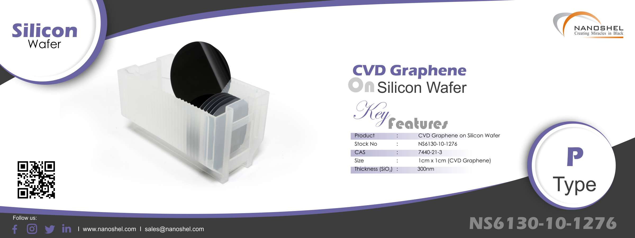 CVD Graphene on Silicon Wafer