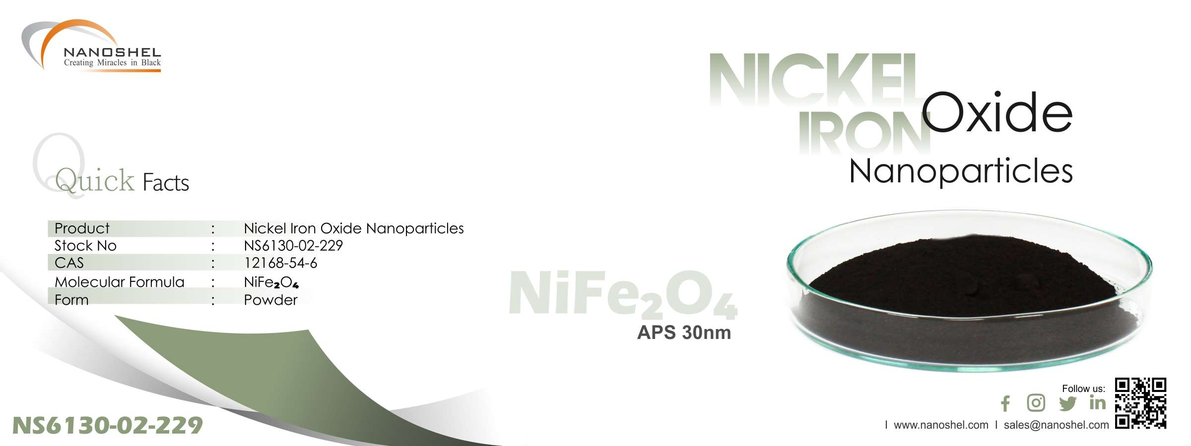 Nickel Iron Oxide Nanoparticles
