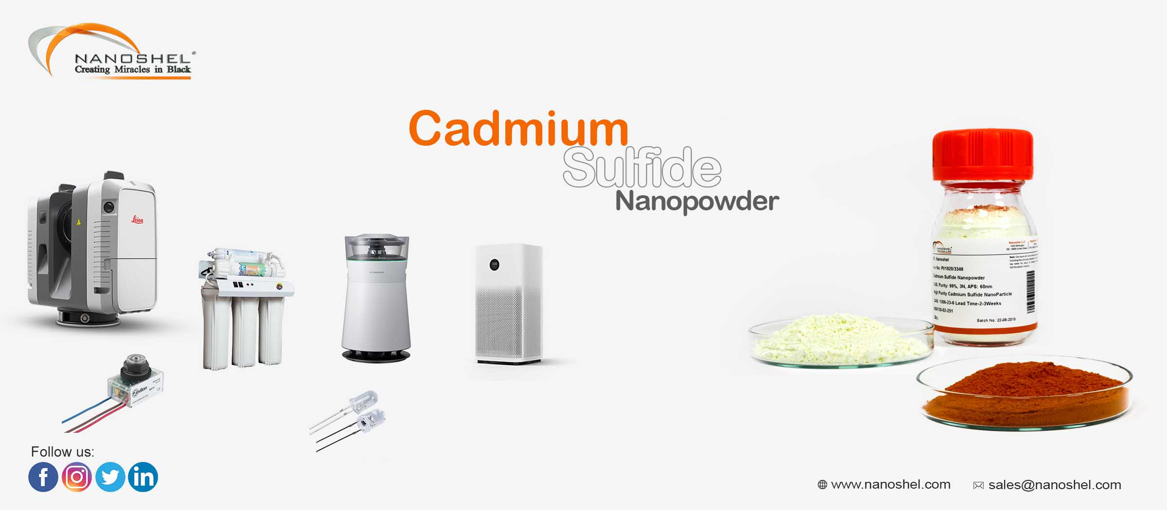 Cadmium Sulfide Solar Cell Powder