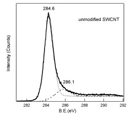 XPS Spectra of Unmodified SWCNT