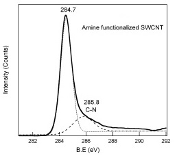 XPS Spectra of Amine SWCNT